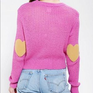 coincidence & chance | Heart Elbow Patch Sweater
